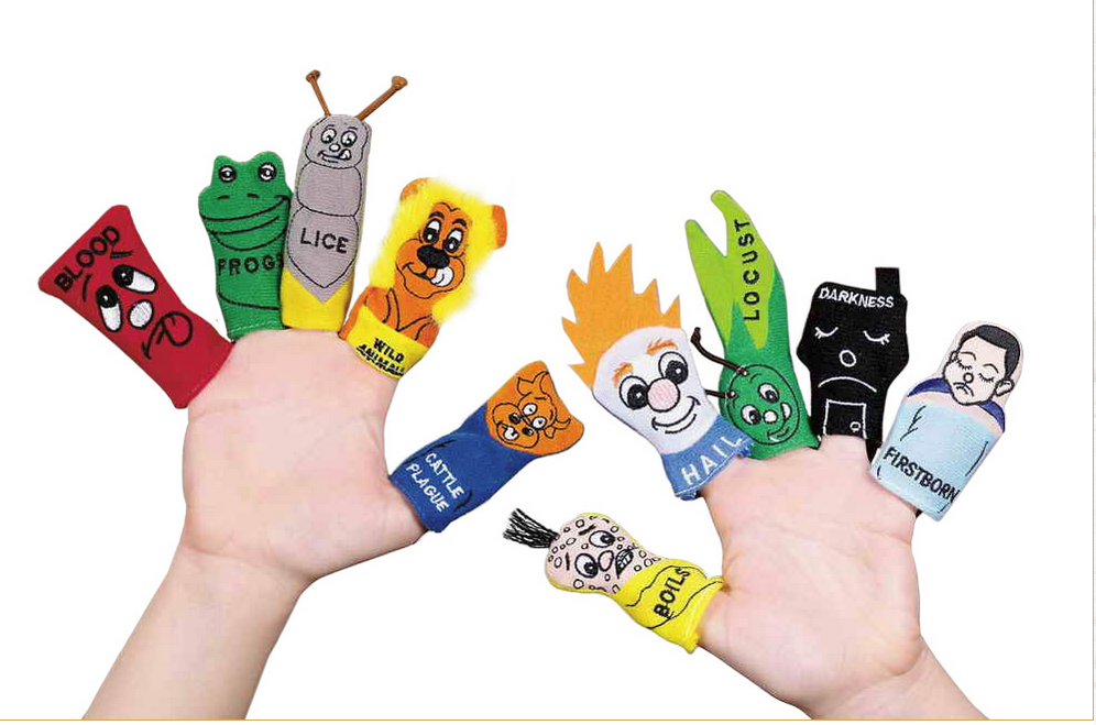 Passover 10 Plagues Finger Puppets for Seder