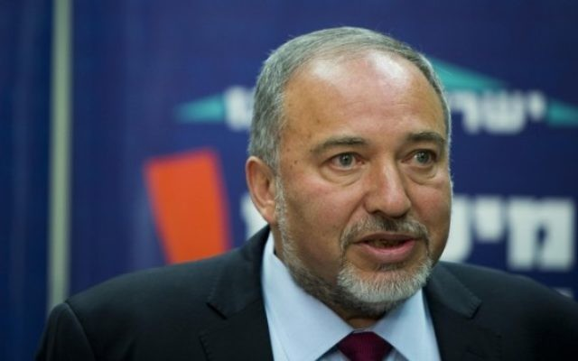 Former defense minister and Yisrael Beytenu party leader Avigdor Liberman. (Yonatan Sindel/Flash90)