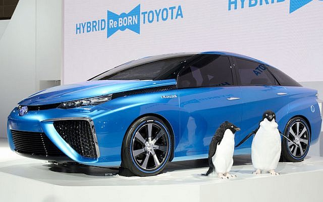 The Toyota Mirai hydrogen-powered concept vehicle (Courtesy)
