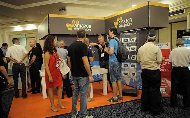 Some of the over 2,000 attendees at the Amazon AWS Summit in Tel Aviv, June 25, 2015 (Courtesy)