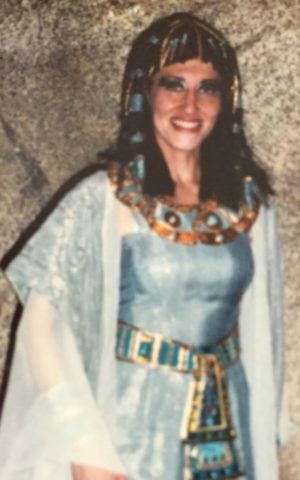 Mom, aka Audrey Leonard Borschel, in the role of the high priestess in a stadium-filling touring production of 'Aida.' (courtesy)