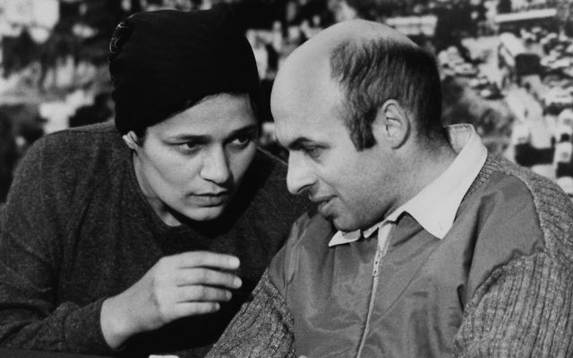 My parents. Former Soviet refusenik and prisoner, Israeli politician, human rights activist, and author Natan Sharansky, with his wife, Avital, after his release from prison in the Soviet Union. He landed in Israel on February 11, 1986. (Moshe Shai/FLASH90.)