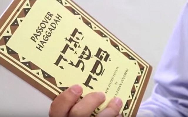 Passover Haggadah (Screenshot/via JTA)