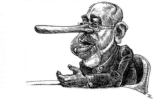 """A pathological liar"" Iranian Foreign Minister Javad Zarifa (Courtesy Nikahang Kowsar)"