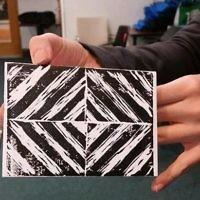 Finished postcard imprint