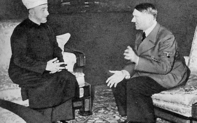 Hitler hosts Grand Mufti Haj Amin al-Husseini in 1941 in Germany. (Heinrich Hoffmann Collection/Wikipedia)