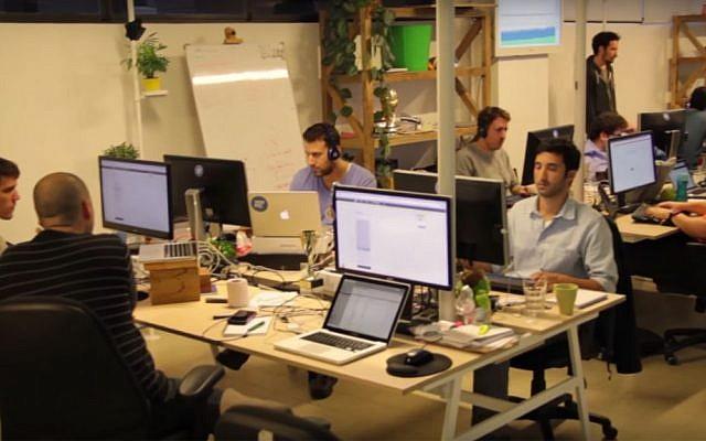 Yotpo's staff at work. (YouTube screenshot)