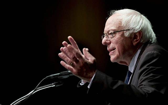 In this photo taken June 24, 2016, Democratic presidential candidate Sen. Bernie Sanders, I-Vermont. speaks in Albany, New York. (AP Photo/Mike Groll)