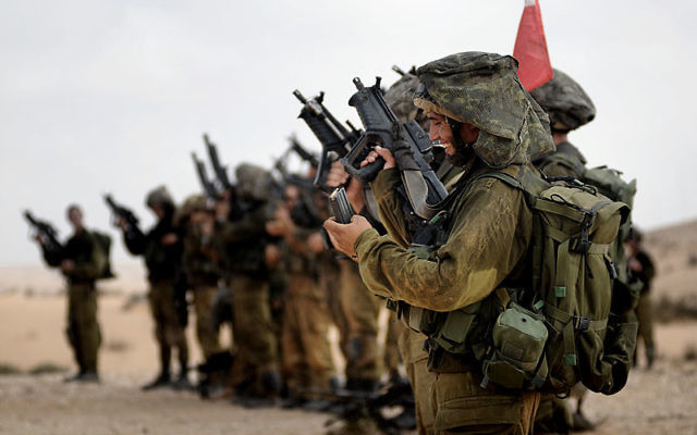 IDF soldiers during a training exercise. (Israel Defense Forces: CC BY-SA 2.0 via Wikimedia Commons