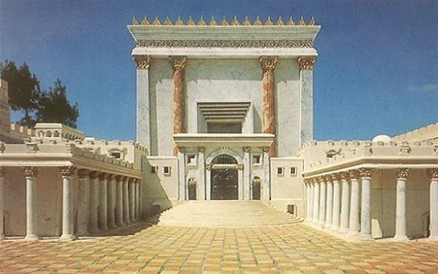 Illustrative. Model of the Temple in Jerusalem.