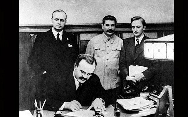 Signing of the Molotov-Ribbentrop Pact (PD)