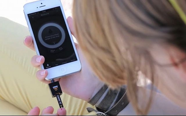 DarioHealth Corp. has developed a smart device to monitor glucose levels in the blood. (YouTube screenshot)