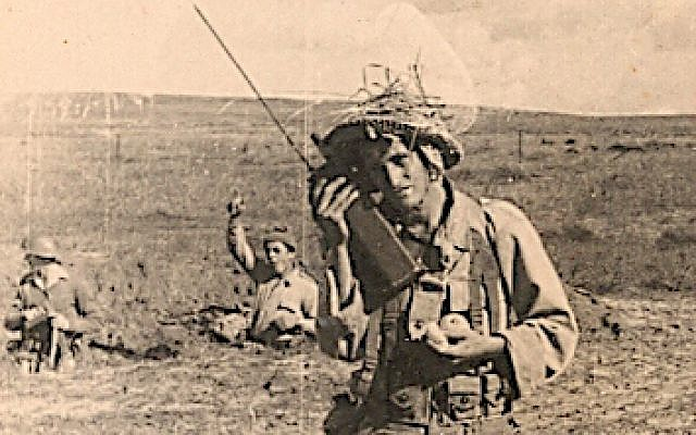 Yair Akov as a soldier during Israel's War of Independence (courtesy)