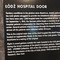 Lodz Hospital Door.