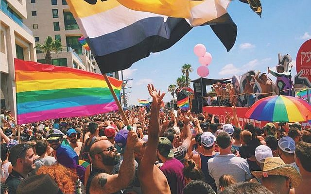 Tel Aviv Gay Pride Parade, from TLV in LDN's Instagram feed. (Courtesy)