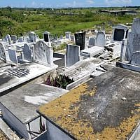 Picture taken in the Cuban Jewish Cemetery. Copyright Rayna Rose Exelbierd