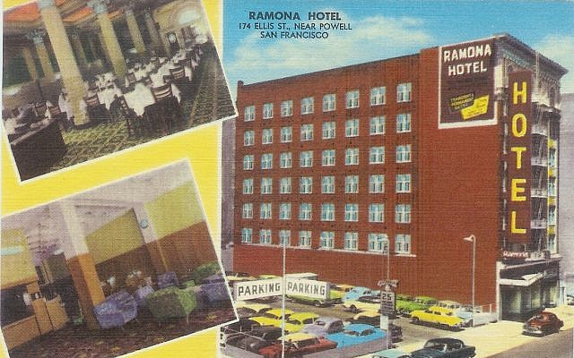 Ramona Hotel postcard (Published by Featuristic Adv., San Francisco 5, Calif.)