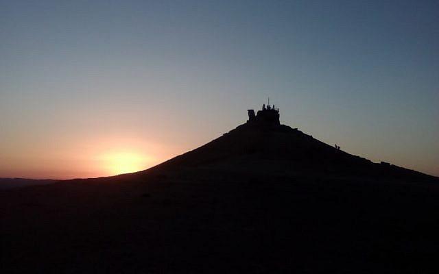 Har Hagamal at sunset (all photos - Bill Slott)