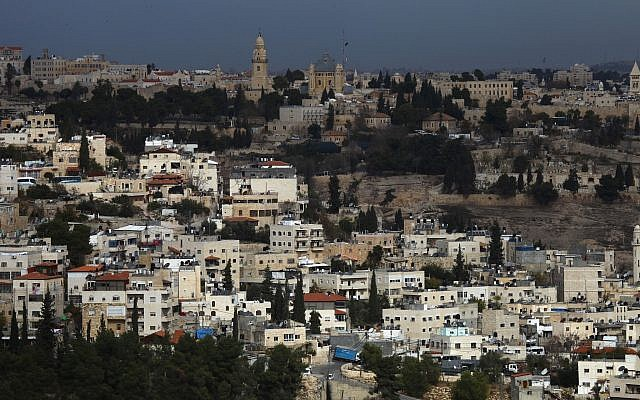 Illustrative: Abu Tor, a mixed Jewish and Arab neighborhood in central Jerusalem, south of the Old City, December 16 2009. (Nati Shohat/Flash90)
