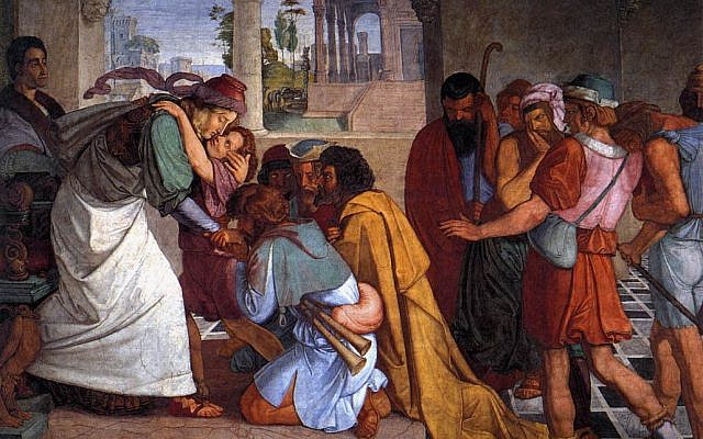 The Recognition of Joseph by his Brothers, by  Peter von Cornelius, 1816-1817. (Wikimedia Commons)