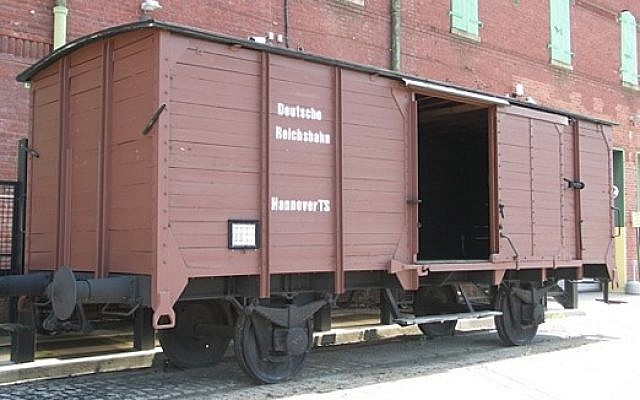 A cattle car at the Richmond Holocaust Museum. You can go inside.