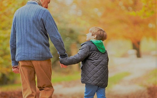 Illustrative: A grandfather and grandson. (iStock)