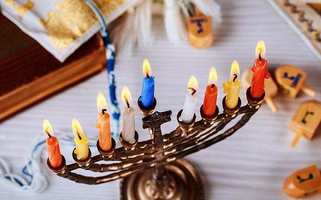 Illustrative. Hanukkah menorah. (via iStock)