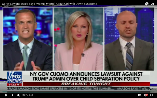 Corey Lewandowski on Fox News (screen - YouTube)