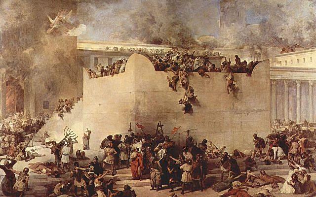 Destruction of the Temple of Jerusalem by Francesco Hayez. Source: Wikimedia Commons