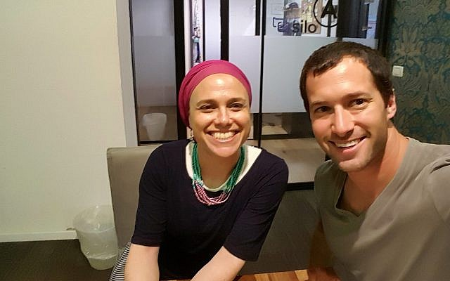 Assaf Luxembourg and Jenny Sassoon. Photo: Assaf Luxembourg.