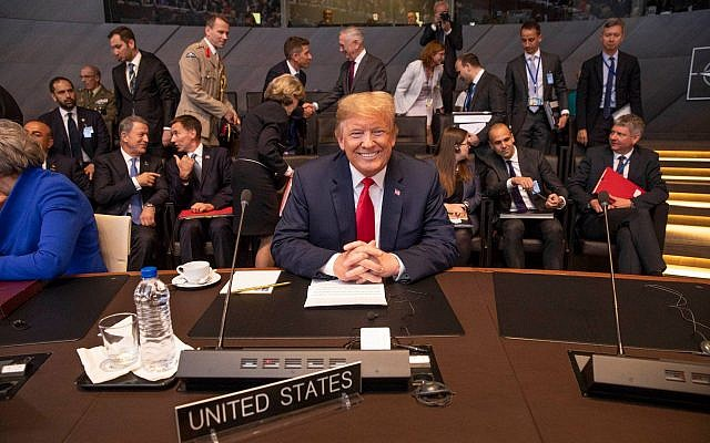 President Donald J. Trump participates in the multilateral meeting of the North Atlantic Council | July 11, 2018 (Official White House photograph by Shealah Craighead)