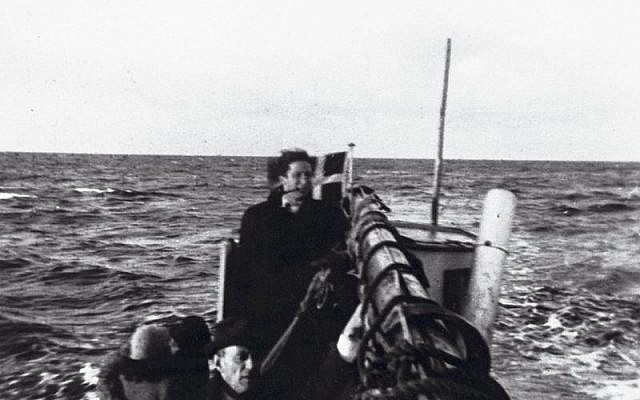 Fishing boat transporting Jewish refugees from Falster (Denmark) to Ystad in Sweden in September/October 1943. Photographer: Mogens Margolinsky. Source: National Museum of Denmark