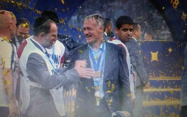 July 15, 2018 World Cup Final Professor Efraim Kramer and Didier Deschamps