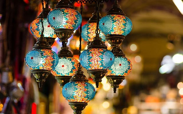 Illustrative: Turkish mosaic lamps in an Istanbul bazaar. (iStock)