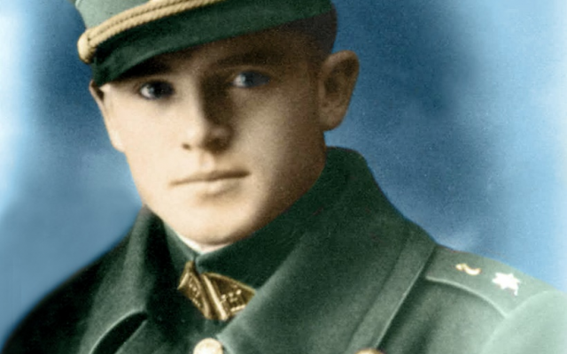 Lithuanian national hero Jonas Noreika, the power behind the slaughter of over 14,000 Jews.