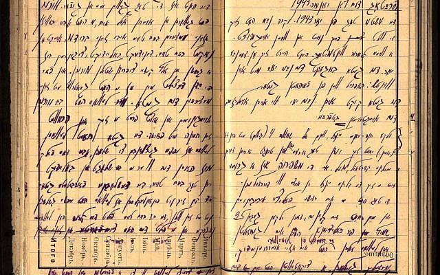 The diary of Yitzhok Rudashevsky. (Courtesy YIVO Institute for Jewish Research. Source: YadVashem.org)