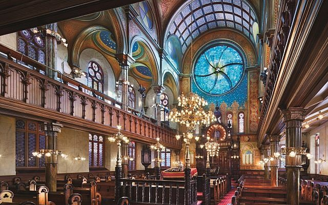 Illustrative. Interior of the main sanctuary of New York's Eldridge Street Synagogue. (Peter Aaron)