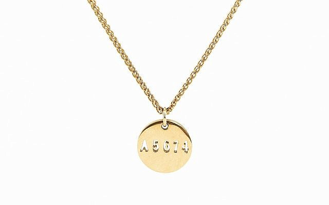 Jakob Ella Jewelry disc pendant necklace with Holocaust number. (Courtesy of Jakob Ella Jewelry)