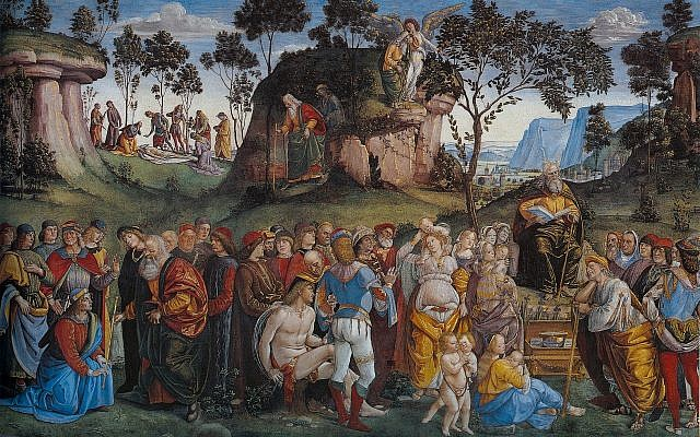 Illustrative. 'Moses' Testament and Death,' by Luca Signorelli, 1481-2. (Wikipedia)