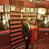 "Shiri Maimon and ""Chicago"" producer Barry Weissler, September 7, 2018 (Photo Credit: Josh Shron)"