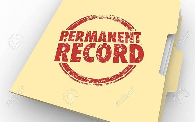 Permanent Record File Folder Criminal Background Check 3d Illustration