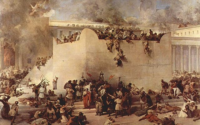 Illustrative. 'Destruction of the Temple of Jerusalem,' by Francesco Hayez, 1867. (Wikipedia)