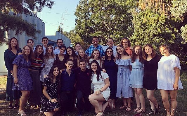 The American Fellows at Szarvas before Shabbat. The author is in the second row, 5th from the right.