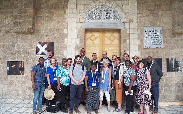 JCRC Group at House of Grace in Haifa. (Photo by Eli Cohn-Postell, JCRC)