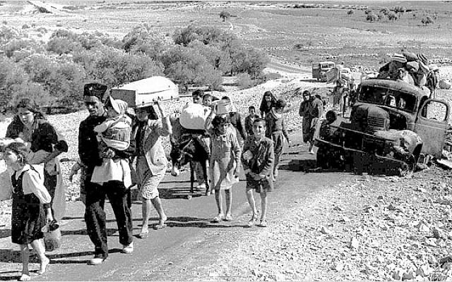 Palestinian refugees leaving the Galilee in October–November 1948. (Source: Wikipedia - via Jewish News)