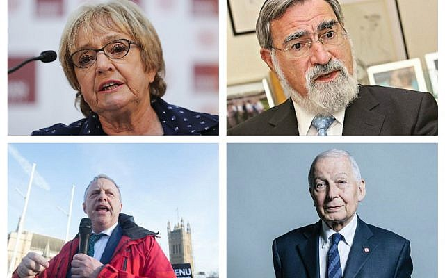 Dame Margaret Hodge MP, Rabbi Lord Sacks, John Mann MP and Frank Field MP.