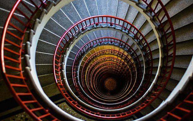 Illustrative. The spiral (helix) staircase in Ljubljana's skyscraper. (iStock)
