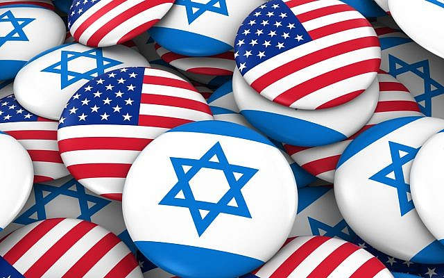 Illustrative. Buttons depicting US and Israeli flags. (iStock)