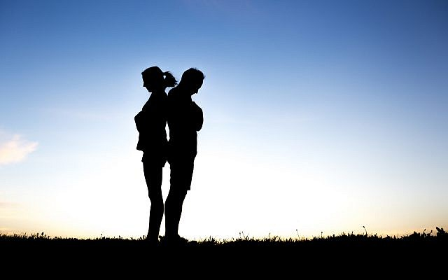 Couple in silhouette (iStock)