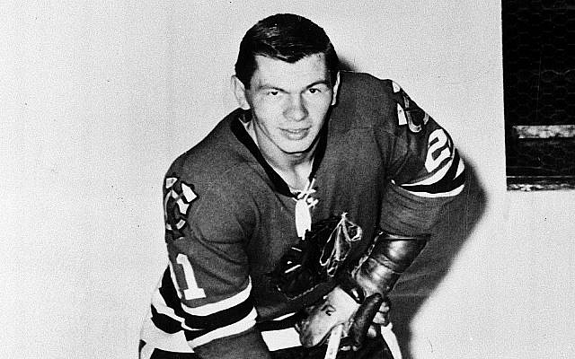 Stan Mikita of the Chicago Blackhawks poses in Chicago, Oct. 17, 1961. (AP Photo/File)